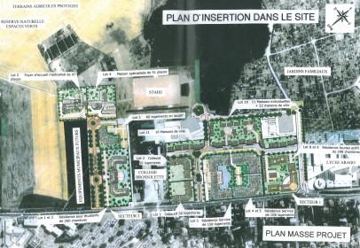 Plan d'insertion dans le site